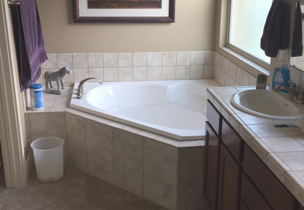 New Bathtub and Custom Tile