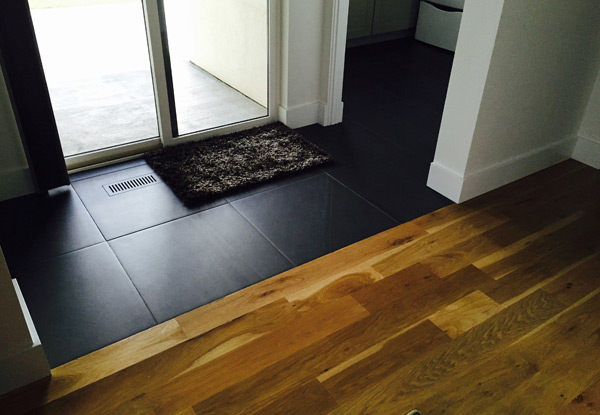 Entryway Tile and Wood Flooring